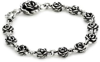 "King Baby ""Rose"" Rose-Motif Chain Bracelet $325 thestylecure.com"