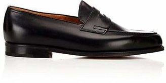 John Lobb Men's Lopez Leather Penny Loafers - Black