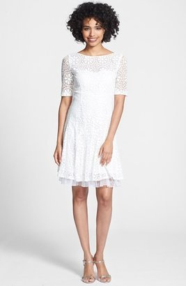 Betsey Johnson Floral Lace Fit & Flare Dress