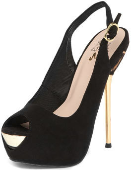 Miss KG Black metal heel platforms