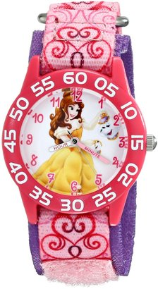 Disney Kids' W001672 Belle Analog Display Analog Quartz Pink Watch