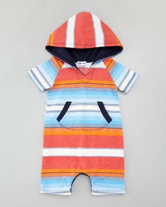 Splendid Littles Multi-Striped & Dash-Striped Hooded Playsuit