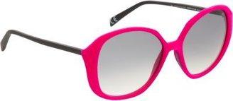 Italia Independent Velvet Round Frame Sunglasses