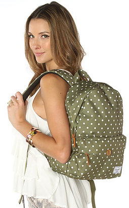 Herschel Supply The Sydney Mid Volume Backpack in Olive Polka Dot