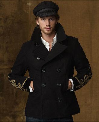 Denim & Supply Ralph Lauren Coat, Wool-Blend Pea Coat