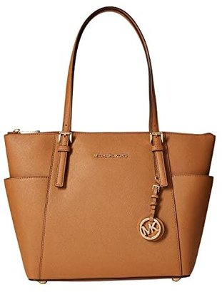 MICHAEL Michael Kors Jet Set Item East West Top-Zip Tote (Acorn 1) Tote Handbags