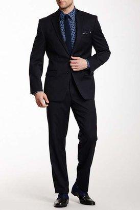 Calvin Klein Navy Solid Two Button Notch Lapel Slim-Fit Suit