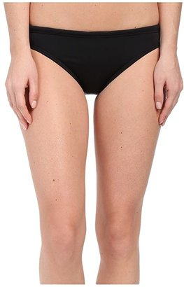TYR Solid Brites Bikini Bottom (Black) Women's Swimwear
