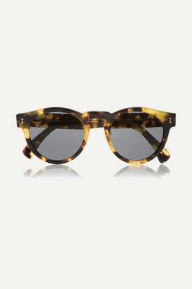 Illesteva - Leonard Round-frame Acetate Sunglasses - Tortoiseshell $180 thestylecure.com
