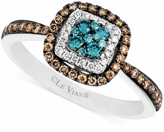 Le Vian Blue and White Diamond and Diamond Accent Ring in 14k White Gold (3/8 ct. t.w.) $2,601 thestylecure.com