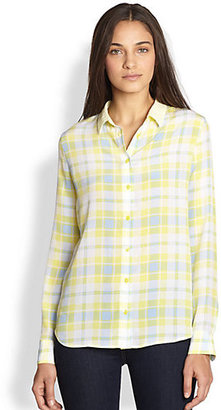 Equipment Audrey Silk Plaid Shirt