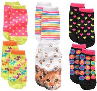 Pink Cookie 6-pk. cat no-show socks - girls