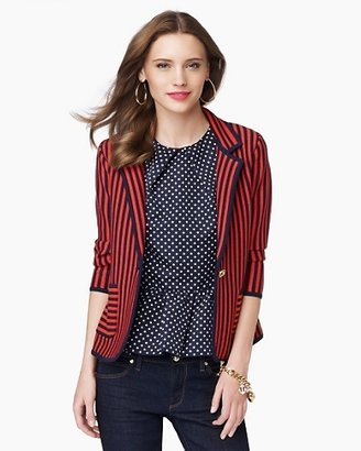 Juicy Couture Nautical Knit Striped Blazer