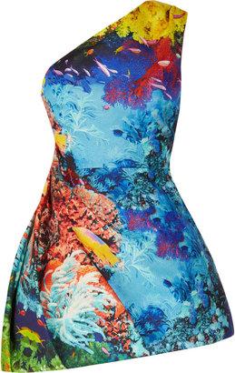 Mary Katrantzou Fishtank silk-blend jacquard mini dress