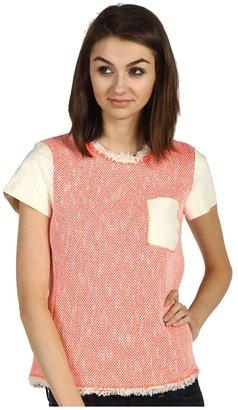 Rebecca Taylor Neon Tweed Top (Poral) - Apparel