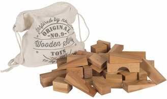 story. Wooden Natural Wooden XL Blocks, 50 Pieces