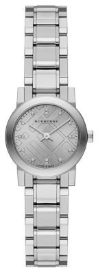 Burberry Ladies' Round Stainless Steel Bracelet Watch with Diamonds
