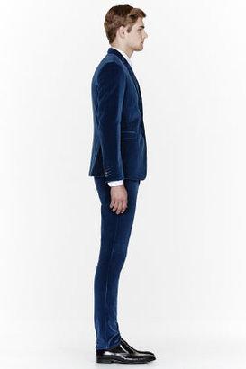 Paul Smith Slate blue velvet suit