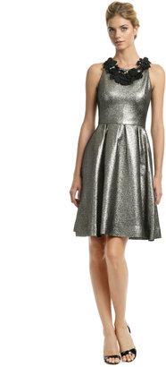 Lela Rose Metallic Mars Dress