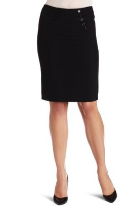 Amy Byer A. Byer Juniors Pegged Skirt With Button Yoke