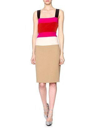 Narciso Rodriguez Colour Block Pencil Dress
