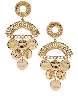 Asos Coin Detail Chandelier Earring