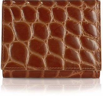 Giorgio Fedon Spiga - Women's Brown Croc Stamped Calfskin Small Wallet