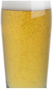 Crate & Barrel Blonde Beer Glass