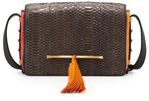Brian Atwood Bo Snakeskin Mini Crossbody Bag, Multicolor