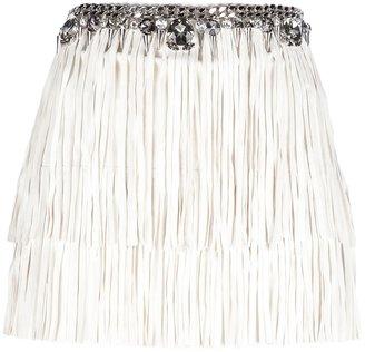 Philipp Plein fringe tassel mini skirt