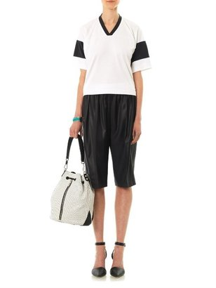 Alexander Wang Cropped football T-shirt