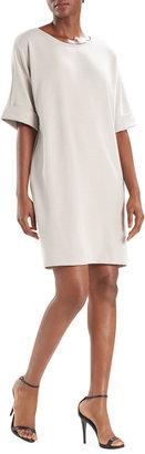 Mia Sanded Jersey Short-Sleeve Dress