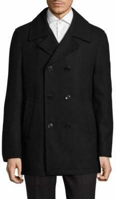 Calvin Klein Wool-Blend Double-Breasted Coat
