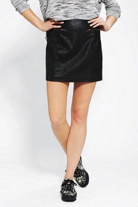 Sparkle & Fade Vegan Leather Mini Skirt