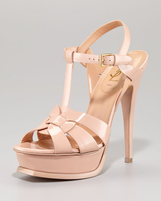 Yves Saint Laurent Patent Leather Tribute Sandal