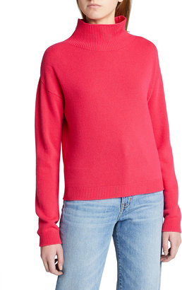 Majestic Filatures Wool-Cashmere Funnel-Neck Knit Sweater