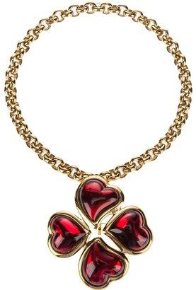 Yves Saint Laurent Vintage clover necklace