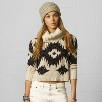 Denim & Supply Ralph Lauren Cropped Turtleneck Sweater
