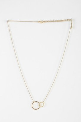 Urban Outfitters Delicate Interlocked Geo Necklace