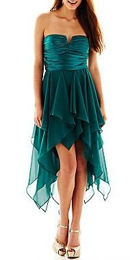 JCPenney Reign On Sweetheart High-Low Dress