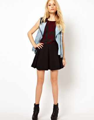 River Island Skirt With Box Pleats