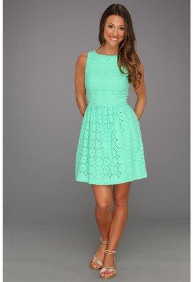 Kensie Eyelet Dress (Mint) - Apparel