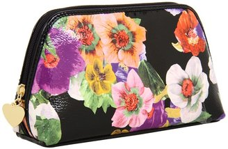 Nine West Strawberry Fields Cosmetic Case (Black Multi) - Bags and Luggage
