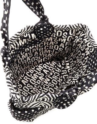 Marc by Marc Jacobs Pretty Nylon Tate Tote Bag, Black/White