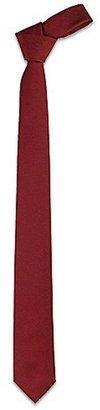 Forzieri Solid Burgundy Twill Silk Narrow Tie