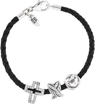 Prerogatives Sterling Faith, Hope & Love Bead Bracelet Set