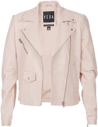 Veda Classic Leather Moto Jacket