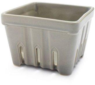 Sur La Table Gray Stoneware Berry Basket