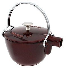 Staub Cast Iron Round Teapot/Kettle 1.0 Qt. (Grenadine) - Home
