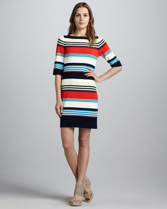 Milly Camden Striped Knit Dress